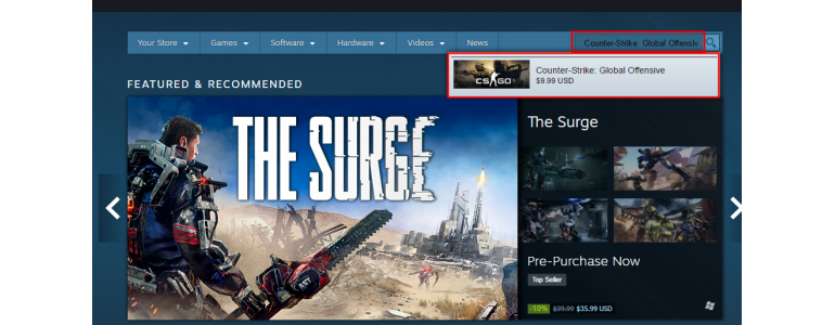 Buying Counter-Strike: Global Offensive