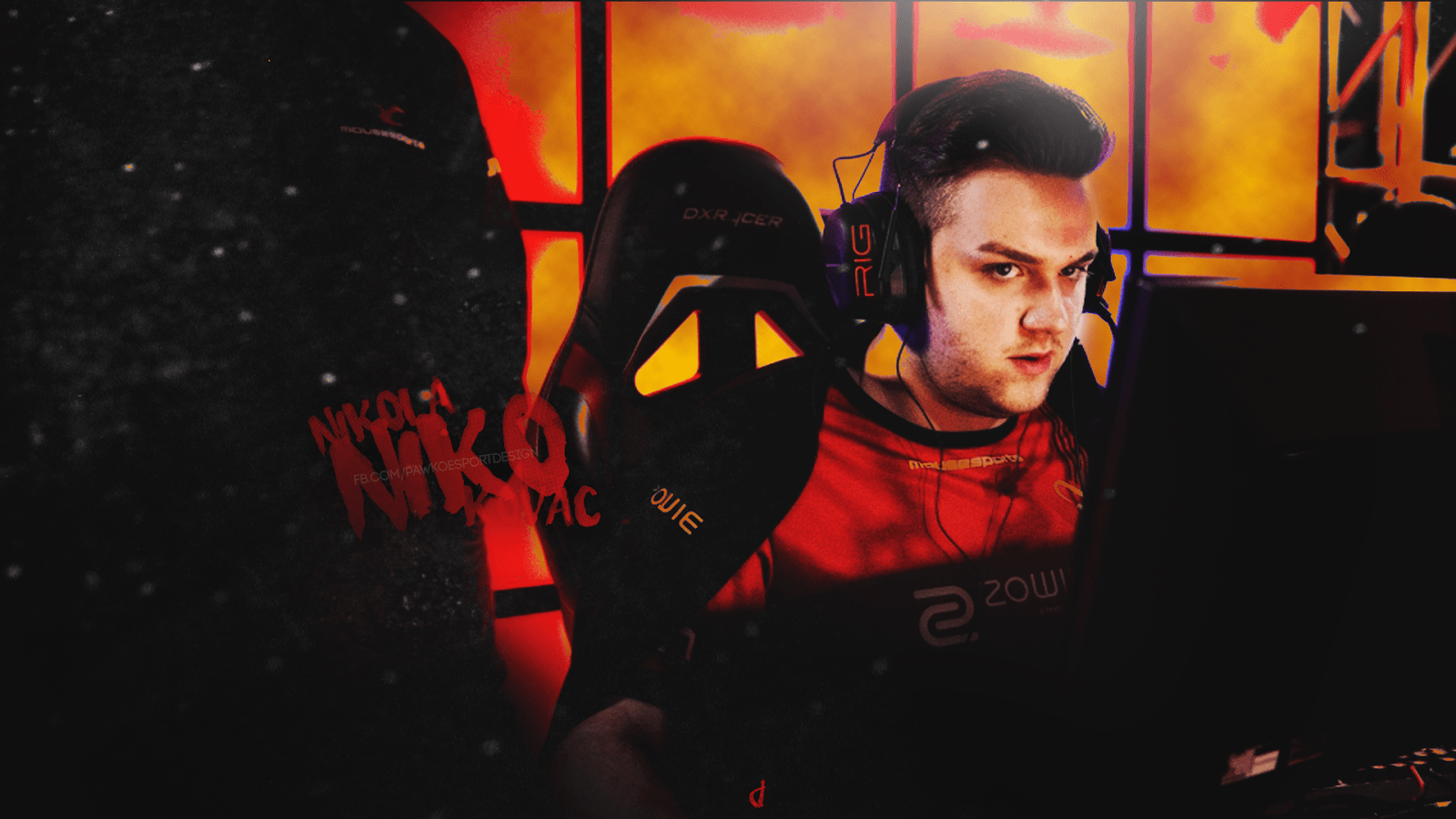NiKO CS:GO wallpaper 1600x900