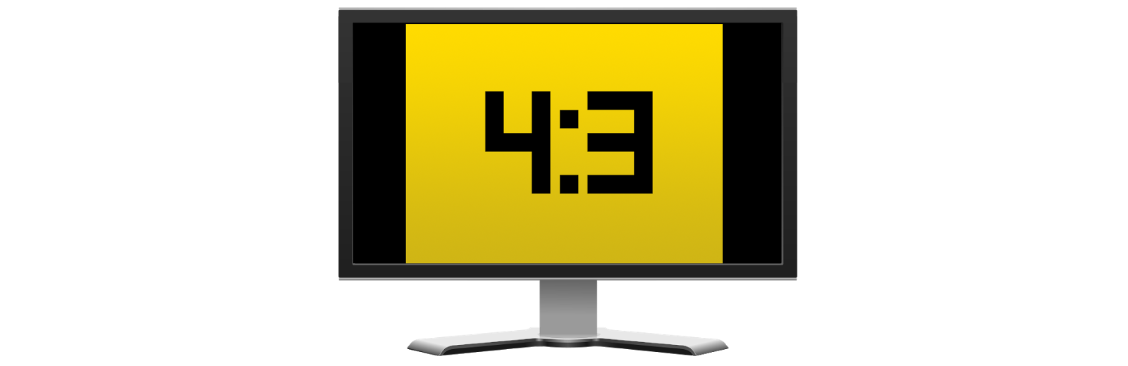 4:3 aspect ratio with vertical bars