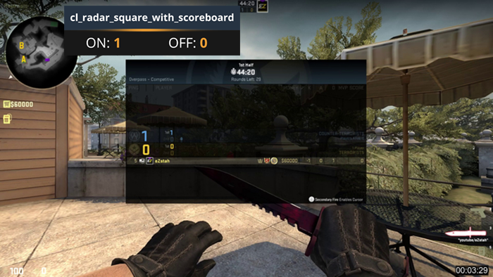 CS:GO Radar scoreboard Command