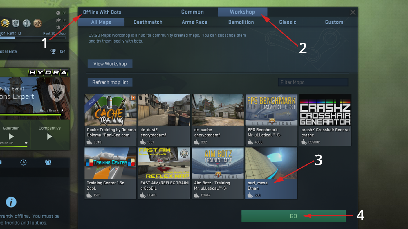cs go level up hack