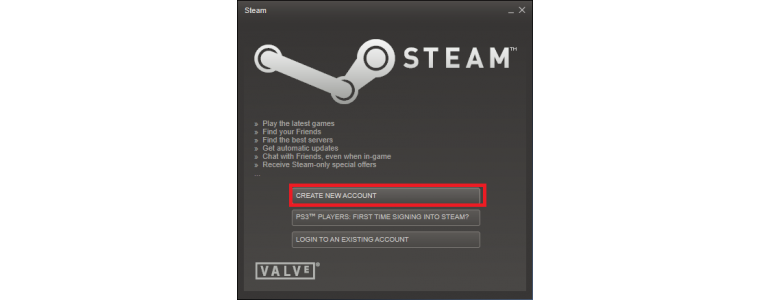 Create New Steam Account