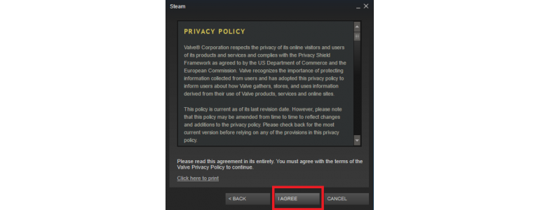 Steam Privacy Policy